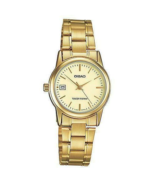Casio Women's Analog Quartz Gold Tone Stainless Steel Watch