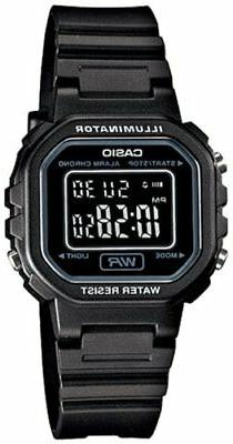 Casio Women's Black Chronograph Alarm LCD Digital Watch LA20