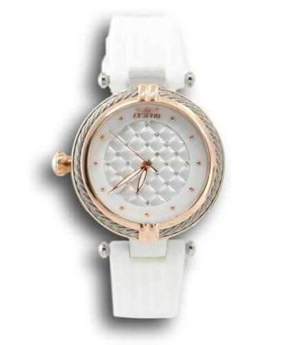 Invicta 36.5mm Rose Gold And White