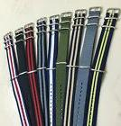 canvas watch band strap 18mm 20mm 22mm