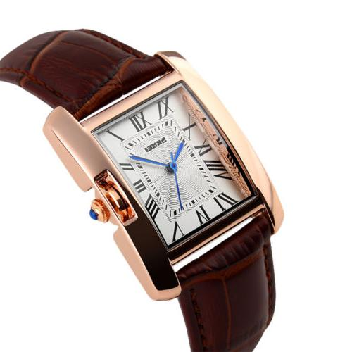 Classic Lady's Numerals Leather Analog Wrist Watch