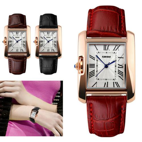 Classic Lady's Women's Roman Leather Analog
