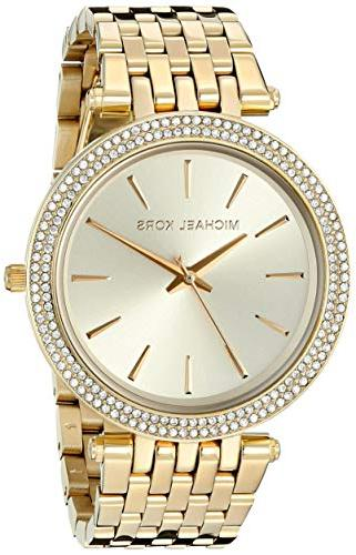 darci gold tone watch mk3191
