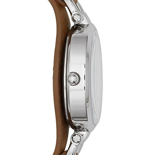 Fossil Women's Georgia Quartz Stainless and Casual Brown