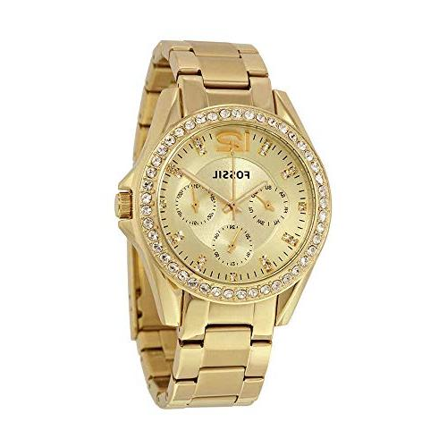 Fossil Women's ES3203 Riley Multifunction Gold-Tone Stainles