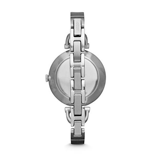Fossil Women's Glitz Silver-Tone Stainless Watch with Stainless Bracelet