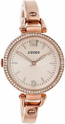 Fossil Women's ES3226 Georgia Glitz Three Hand Stainless Ste