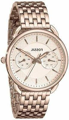 Fossil ES3713 Tailor 35MM Women's Multi-Function Rose-Tone S