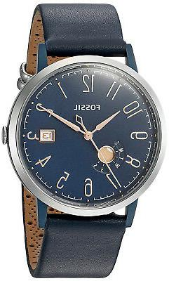 Fossil ES4107 Vintage Muse Blue Dial Blue Leather Strap Wome