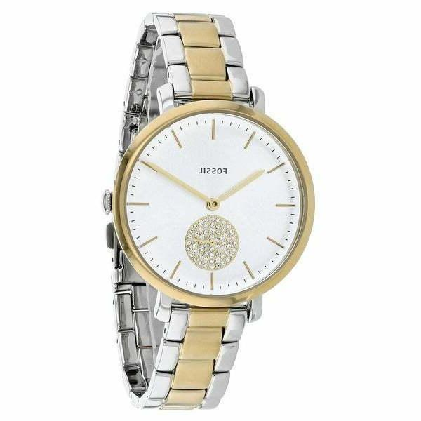 Fossil ES4439 Women's Jacqueline Silver Dial Two-Tone Steel