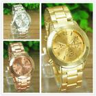 Fashion Crystal Womens Mens Watch Stainless Steel Band Quart