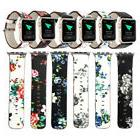 Fashion Floral Women Leather Band Belt Strap For Apple Watch