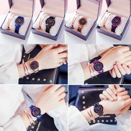 Hot Sky Waterproof Strap Stainless Steel Women