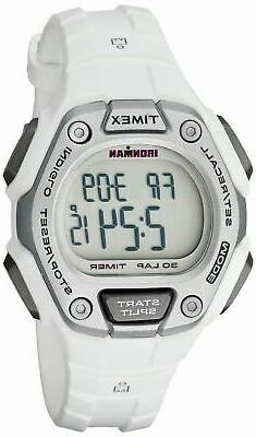 Timex Women's Ironman Classic 30 Mid-Size Watch, White Resin