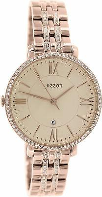 Fossil® Women's Jacqueline Rose Goldtone Bracelet Watch