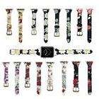Leather Apple Watch Band for Women 38mm 42mm Flower Printed