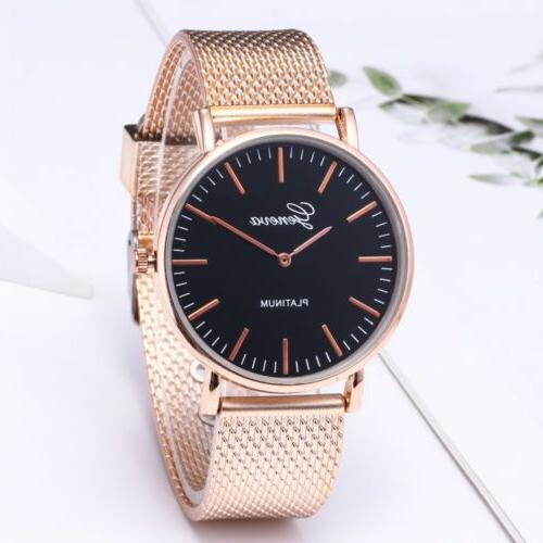 1pcs Women Geneva Crystal Stainless Quartz