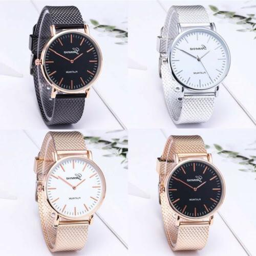1pcs Men Geneva Crystal Quartz Analog Wrist Watch