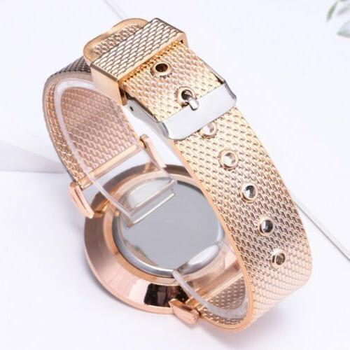 1pcs Geneva Stainless Steel Quartz Analog
