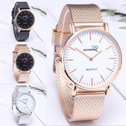 1pcs Geneva Stainless Steel Quartz