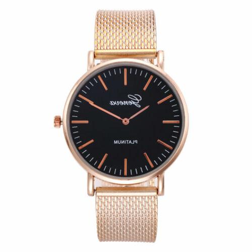 Luxury New Watch Stainless Band Quartz Analog Wrist Watches