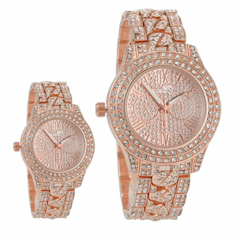 New Women's Geneva Crystal Rhinestone Band Watch