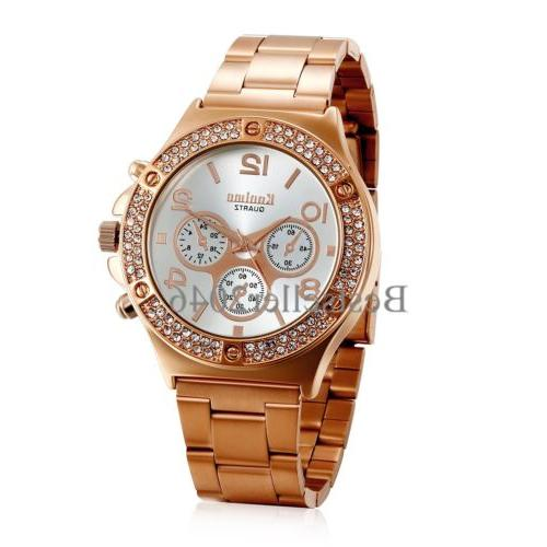 New Ladies Girl Stainless Analog Quartz Watch
