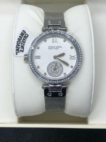 York Silver-Tone Watch with