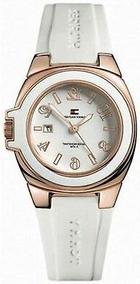 NEW Tommy Hilfiger Riverside White Silicone White Dial Women