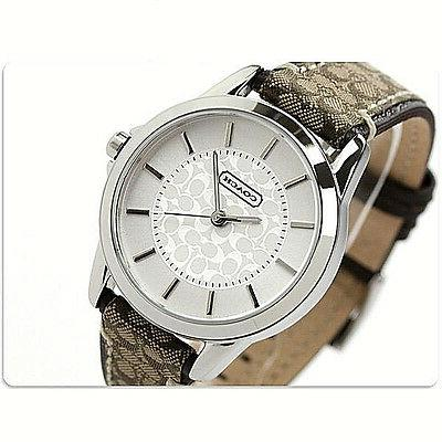 NWT Coach Women Watch Stainless BROWN Classic Logo Signature