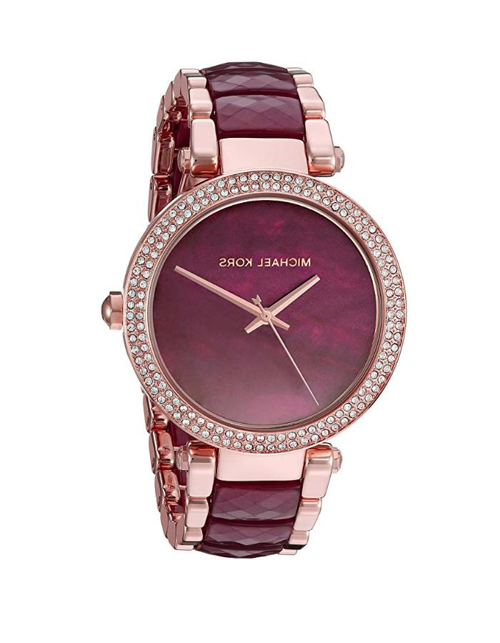Michael Kors® Women's Parker Rose Goldtone And Plum Acet