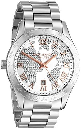 pave dial stainless steel quartz
