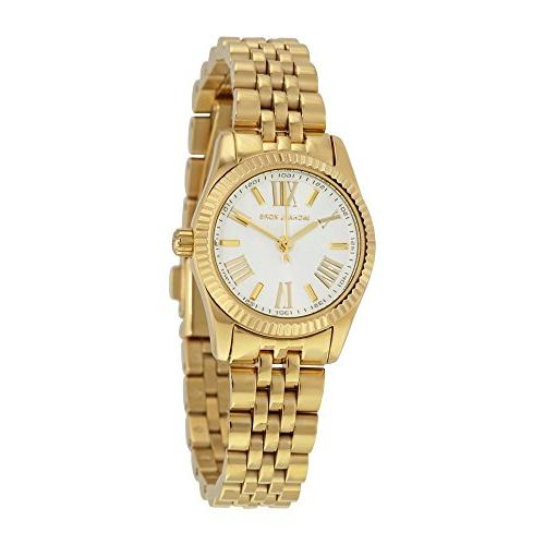 silver dial gold tone stainless