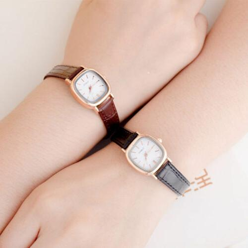 Small Dial Dress Leather Women Watch ladies Girls Watch Wome