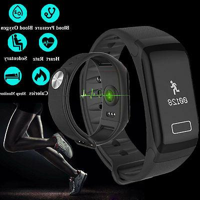 F1 Smart Watch Blood Pressure Heart Rate Monitor Fitness Spo
