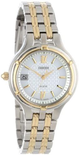 "Seiko Women's SUT020 ""Dress"" Two-Tone Stainless Steel Solar"