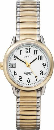 Timex Women's T2H491 Easy Reader Two-Tone Stainless Steel Ex