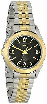 Timex Women's T2N320 Elevated Classics Dress Two-Tone Expans