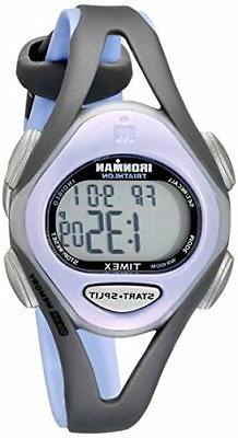 Timex Women's T5E511 Ironman Sleek 50 Mid-Size Purple/Gray R