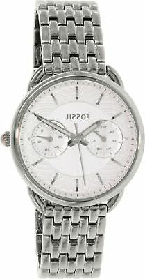 Fossil Tailor Multifunction Stainless Steel Watch Es3712 Whi