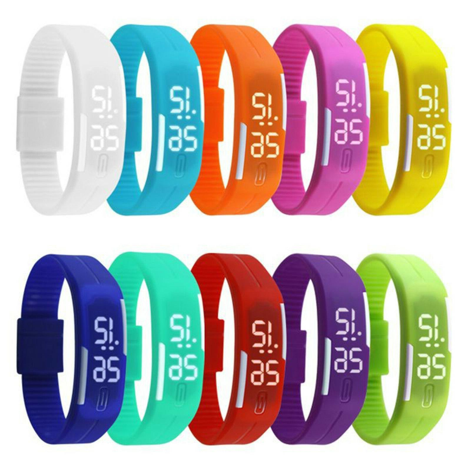 Touch Screen LED Digital Silicone Sport Wrist Watch Men Wome