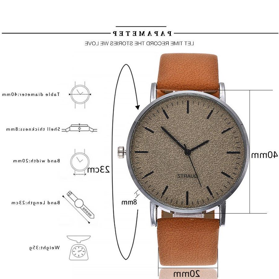 Unisex Fashion Casual Women's Watches Leather Quartz Wrist