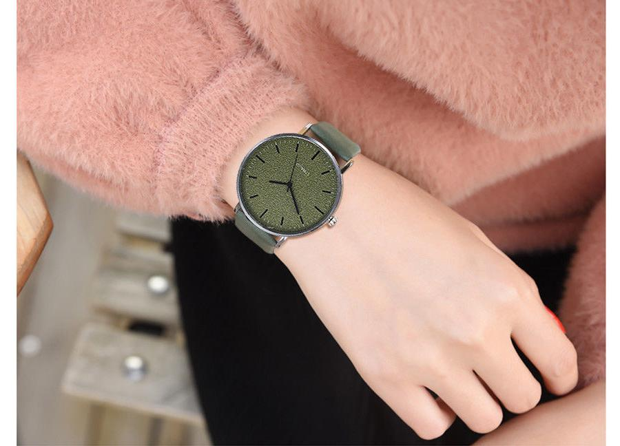 Unisex Women's Watches Men Leather Bracelet Quartz Watch