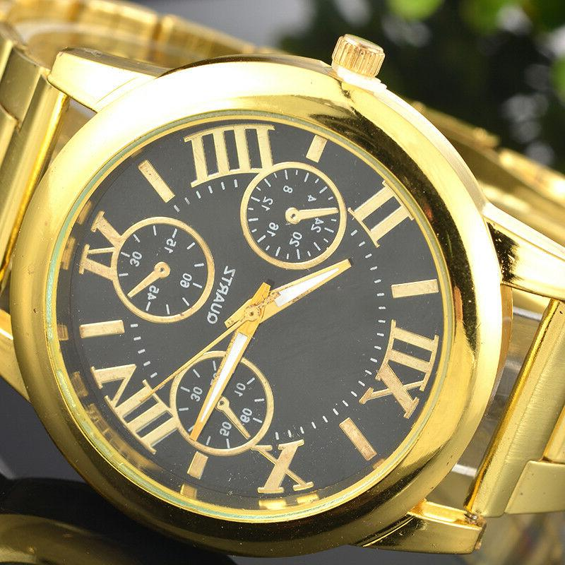 US Fashion Numbers Gold Plated Watch