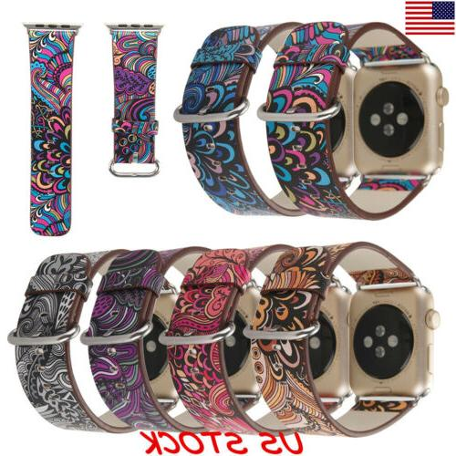 usa women floral leather band for apple