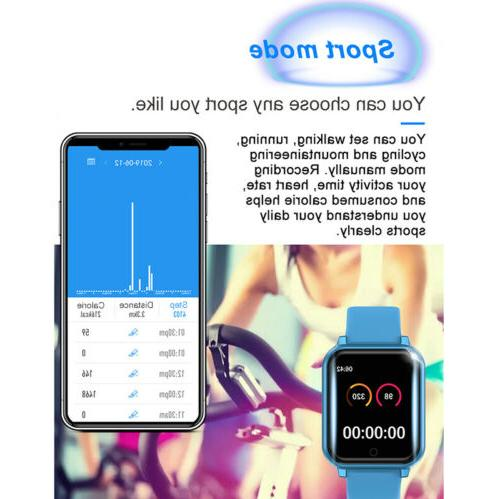 Waterproof Women Men Fitness Bracelet iPhone Android