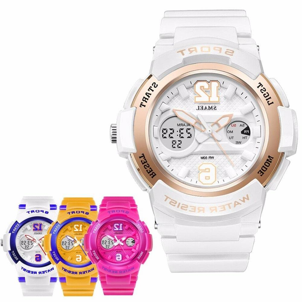 women girls cool digital sport luminous analog