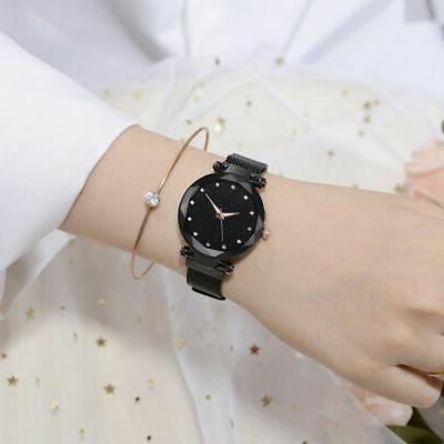 US Women Starry Sky Magnetic Stainless Wrist