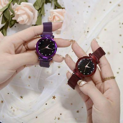 Women Watch Magnet Strap Buckle Stainless New