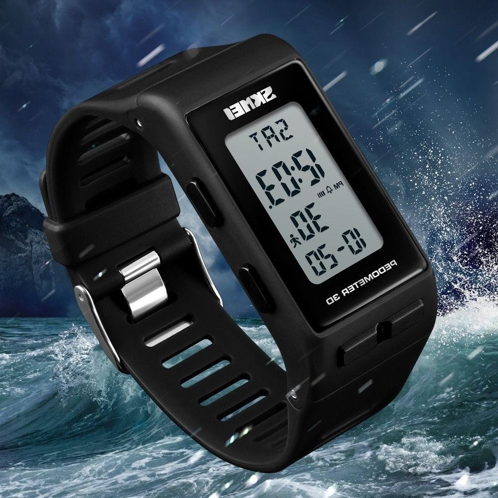 Men Women Sports Digital Watch Waterproof Calories